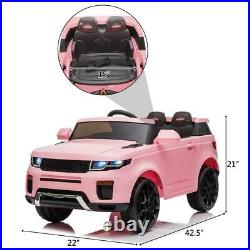 NEW 12v Kids Electric Battery Ride on Car Parental Remote Control Pink