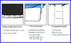 NEW 8FT Trampoline With Safety Net Enclosure Spring Cover Padding Adults Kids