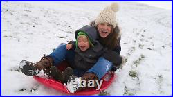 NEW Heavy Duty Kids Snow Sledge Toboggan Sleigh Sled Rope Plastic Board Play