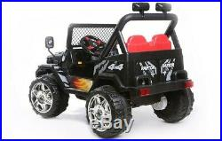 NEW Kids 2 Seater Ride on 12v Electric Battery 4x4 Car Truck Jeep in Black