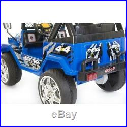 NEW Kids 2 Seater Ride on 12v Electric Battery 4x4 Car Truck Jeep in Blue