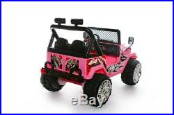 NEW Kids 2 Seater Ride on 12v Electric Battery 4x4 Car Truck Jeep in PINK