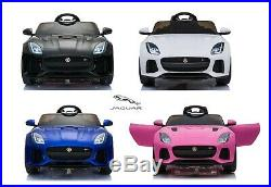 New 12v Kids Electric Official Jaguar F-type Ride On Sports Car Parental Remote
