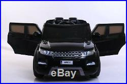 New Black Childrens 4x4 Sport Style 12v Electric Kids Childs Ride On Jeep Car
