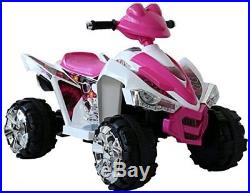 New Kids 12v Quad Bike Child Toy Electric Battery Powered Pink Ride Sit On Car