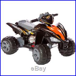 New Kids Ride On Car-quad Pro Raptor Style 12v Electric Battery Toy ATV In Black