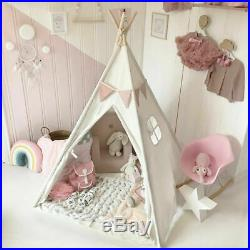 New Kids Teepee Wigwam Childrens Play Tent Childs Garden or Indoor Toy Canvas