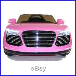New Sport Roadster Audi Style 12v Kids Electric Ride on Car with Remote Pink