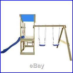 Outdoor Garden Playhouse Set with Ladder Slide Swings Children Kid Funny Toys