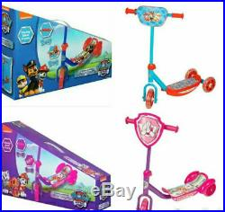 Paw Patrol 3 Wheel Tri Scooter Ride On Outdoor Toy Boys Girls Kids Fun Toy
