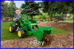 Peg Perego John Deere Ground Loader Ride On Toy Tractor Battery Electric Kids