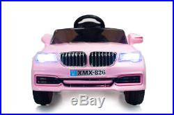 Pink 12V X5 Saloon, Suspension, RC, Kids' Electric Ride On Car