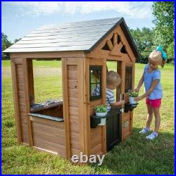 Playhouse Kids Outdoor Kitchen Garden Toy Play Sett Age 2-10 Easy Assembly Child
