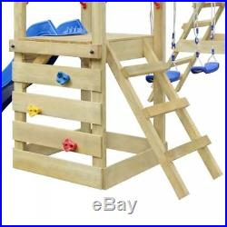 Playhouse Set with Ladder, Slide and Swings 356x255x235 cm Wood Kids Outdoor UK