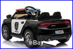 Pre-Order 12V Kids Electric Ride On Police Car 2.4G RC Siren Opening Side Door