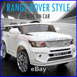 Range Rover Style Ride On 12v Kids Electric Battery Remote Control 2.4g Toy Car