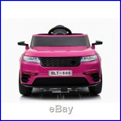 Range Rover Velar Style 12V Kids Ride On Car With Parental Remote Control Music