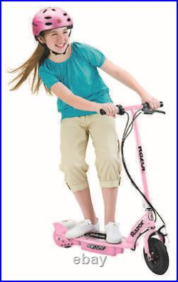 Razor E125 Kids Ride On 24V Motorized Battery Powered Electric Scooter Toy, Pink