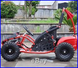 Rebo Buggy 1000W 48V Kids Electric Battery Go Kart Jeep Quad Red