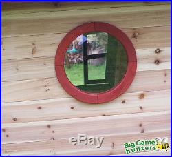 Redwood Lodge With Floor Kids Painted Wooden Playhouse Garden Wendy house