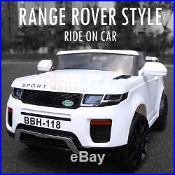 Ride On 12v Evoque Range / Land Rover Style Jeep Kids Remote Control Car / Cars