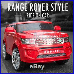 Ride On 12v Evoque Range Rover / Land Style Jeep Kids Remote Control Car / Cars