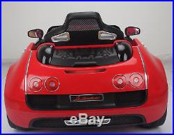 Ride On Bugatti Style 12V Car Kids With Parental Remote Control Adjustable Seat