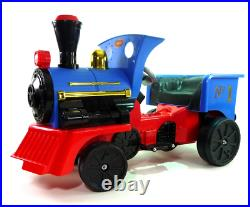 Ride on Kids Electric 12v Battery Powered Play Train Engine Blue