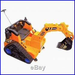 RiiRoo 12V Kids Ride On Digger Electric With 360 Degree Spin Working Bucket