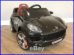 RiiRoo Kids Porsche Macan Style 12V Electric Ride On Car Parental Remote Control
