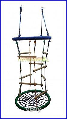 Rope Ladder Nest Swing Climber Climbing Outdoor Playground Cubbyhouse Kids