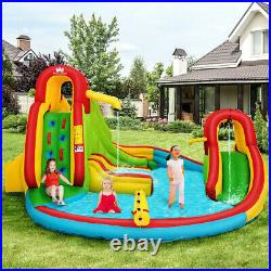 Safe Inflatable Bounce House Castle Kids Water Slide Jumper Bouncer With Pool