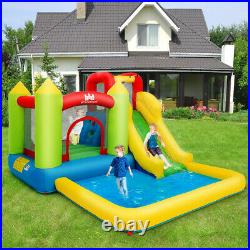Safety Three Play Areas Inflatable Bounce House Kids Castle Water Slide Pool New