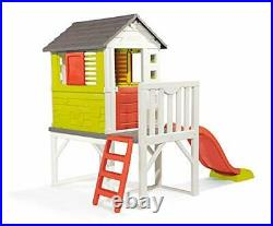 Smoby Kids Playhouse on Stilts with Slide Strong and Durable Wendy House