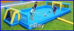 Soccer Field Bounce House For Kids Inflatable Football Court Play Sports Outdoor