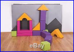 Soft Play Set Childrens Kids Shadow Puzzle Large Shapes Maths Toy Equipment+Mat