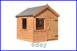 Tafiti 4x4ft Outdoor Wooden Playhouse Kids Wendy House Playground