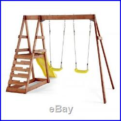 Tamarin Wooden Play Centre kids swing and slide set by Plum (RRP£399)