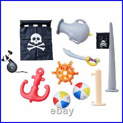 Teamson Kids Garden Childrens Pirate Boat Inflatable Water Play Centre
