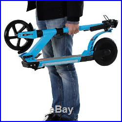 Teens Adult Electric Scooter Foldable with Flashing Light For Kids 14 + Blue