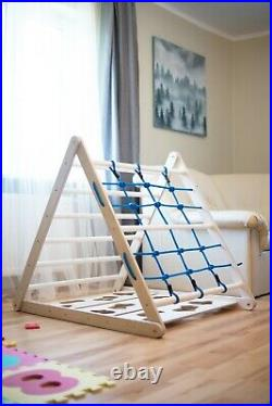 Triangle pikler for Kids Toddlers Rock Wall Climbing Wall Ladder Wall 3in1