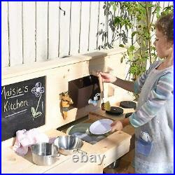 Triple Mud Kitchen with Real Working Tap Children's Water Muddy Messy Play Kids
