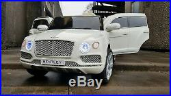 UK RC Kids Licensed Bentley Bentayga 12V Battery Electric Ride On Car Toy JEEP