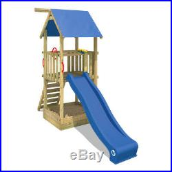 WICKEY Smart Tale Wooden Climbing Frame Treehouse Slide Garden kids playground