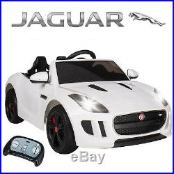 White 12V Jaguar Powered Electric Kids Ride On Toy Car F-TYPE 3 Speeds 2 Modes