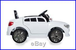White 12V X5 Saloon, Suspension, RC, Kids' Electric Ride On Car