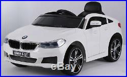 White Bmw Gt 6 Series Kids Electric 12v Ride On Toy Car With Parental Remote