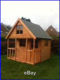 Wooden 8x6 Outdoor Childrens Playhouse FULLY T&G Wendy House Kids Timber Den
