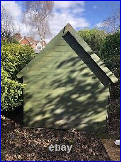 Wooden Playhouse Children's 6x6 Kids Outdoor Wendy House Two Story Play Den