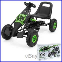 Xootz Viper Go Kart Kids Childs Boys Pedal Ride On Car Outdoor Toy 2 Gears Black